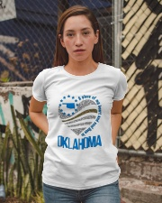 A PIECE OF MY HEART AND SOUL LIVES IN  OKLAHOMA Ladies T-Shirt apparel-ladies-t-shirt-lifestyle-03