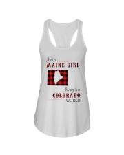 MAINE GIRL LIVING IN COLORADO WORLD Ladies Flowy Tank thumbnail