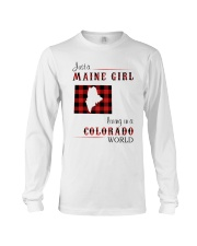 MAINE GIRL LIVING IN COLORADO WORLD Long Sleeve Tee thumbnail