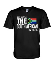 HAVE NO FEAR THE SOUTH AFRICAN IS HERE V-Neck T-Shirt thumbnail