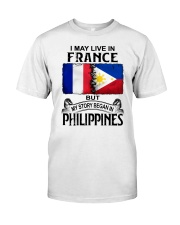 LIVE IN FRANCE BEGAN IN PHILIPPINES Classic T-Shirt tile