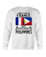 LIVE IN FRANCE BEGAN IN PHILIPPINES Crewneck Sweatshirt thumbnail