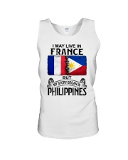 LIVE IN FRANCE BEGAN IN PHILIPPINES Unisex Tank thumbnail