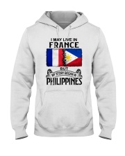 LIVE IN FRANCE BEGAN IN PHILIPPINES Hooded Sweatshirt thumbnail