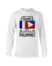 LIVE IN FRANCE BEGAN IN PHILIPPINES Long Sleeve Tee thumbnail