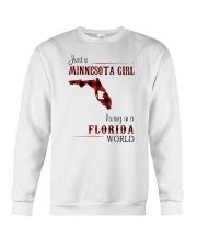 MINNESOTA GIRL LIVING IN FLORIDA WORLD Crewneck Sweatshirt thumbnail