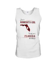 MINNESOTA GIRL LIVING IN FLORIDA WORLD Unisex Tank thumbnail