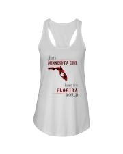 MINNESOTA GIRL LIVING IN FLORIDA WORLD Ladies Flowy Tank thumbnail