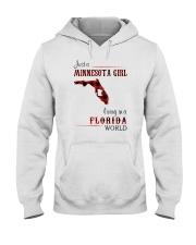 MINNESOTA GIRL LIVING IN FLORIDA WORLD Hooded Sweatshirt thumbnail