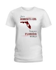 MINNESOTA GIRL LIVING IN FLORIDA WORLD Ladies T-Shirt thumbnail