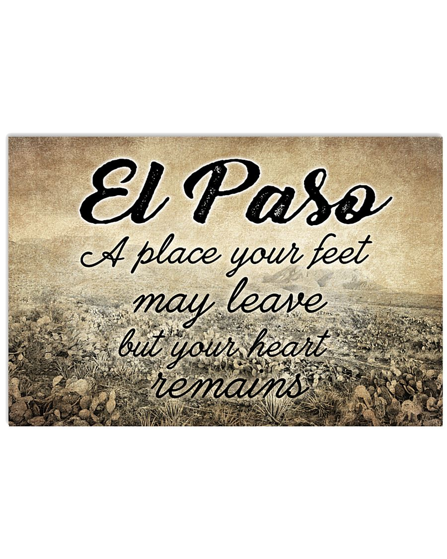 EL PASO A PLACE YOUR HEART REMAINS 24x16 Poster