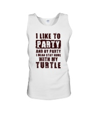 I LIKE TO PARTY WITH MY TURTLE Unisex Tank thumbnail