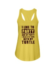 I LIKE TO PARTY WITH MY TURTLE Ladies Flowy Tank thumbnail