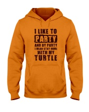 I LIKE TO PARTY WITH MY TURTLE Hooded Sweatshirt thumbnail