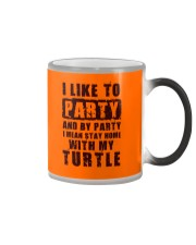 I LIKE TO PARTY WITH MY TURTLE Color Changing Mug thumbnail