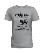 SOME WYOMING GIRLS TALK TOO LOUD Ladies T-Shirt thumbnail