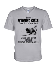 SOME WYOMING GIRLS TALK TOO LOUD V-Neck T-Shirt thumbnail