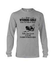 SOME WYOMING GIRLS TALK TOO LOUD Long Sleeve Tee thumbnail