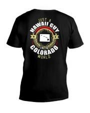 HAWAII GUY IN COLORADO WORLD V-Neck T-Shirt thumbnail