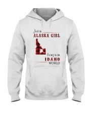 ALASKA GIRL LIVING IN IDAHO WORLD Hooded Sweatshirt thumbnail