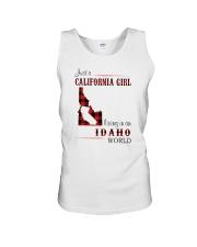 CALIFORNIA GIRL LIVING IN IDAHO WORLD Unisex Tank thumbnail