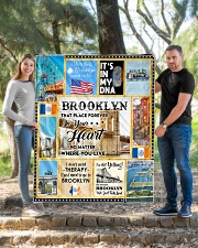 """BROOKLYN IT'S IN MY DNA Quilt 50""""x60"""" - Throw aos-quilt-50x60-lifestyle-front-04"""