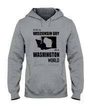 JUST A WISCONSIN GUY IN A WASHINGTON WORLD Hooded Sweatshirt thumbnail