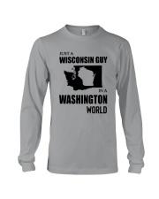 JUST A WISCONSIN GUY IN A WASHINGTON WORLD Long Sleeve Tee thumbnail
