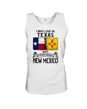 LIVE IN TEXAS BUT MY STORY BEGAN IN NEW MEXICO Unisex Tank thumbnail
