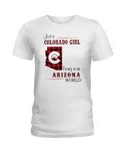 COLORADO GIRL LIVING IN ARIZONA WORLD Ladies T-Shirt thumbnail