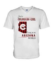 COLORADO GIRL LIVING IN ARIZONA WORLD V-Neck T-Shirt thumbnail