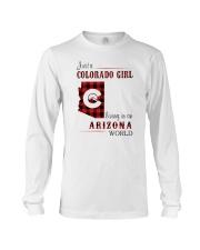 COLORADO GIRL LIVING IN ARIZONA WORLD Long Sleeve Tee thumbnail