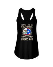 LIVE IN CALIFORNIA MY STORY IN PUERTO RICO Ladies Flowy Tank thumbnail