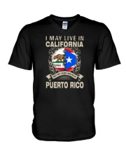 LIVE IN CALIFORNIA MY STORY IN PUERTO RICO V-Neck T-Shirt thumbnail