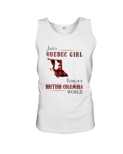 QUEBEC GIRL LIVING IN BRITISH COLUMBIA WORLD Unisex Tank thumbnail