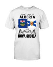 LIVE IN ALBERTA BEGAN IN NOVA SCOTIA ROOT Classic T-Shirt tile