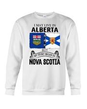 LIVE IN ALBERTA BEGAN IN NOVA SCOTIA ROOT Crewneck Sweatshirt thumbnail