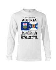 LIVE IN ALBERTA BEGAN IN NOVA SCOTIA ROOT Long Sleeve Tee thumbnail