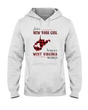 NEW YORK GIRL LIVING IN WEST VIRGINIA WORLD Hooded Sweatshirt thumbnail
