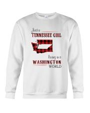 TENNESSEE GIRL LIVING IN WASHINGTON WORLD Crewneck Sweatshirt thumbnail