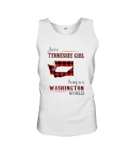 TENNESSEE GIRL LIVING IN WASHINGTON WORLD Unisex Tank thumbnail