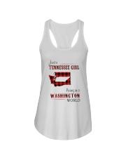 TENNESSEE GIRL LIVING IN WASHINGTON WORLD Ladies Flowy Tank thumbnail