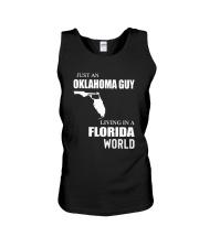 JUST AN OKLAHOMA GUY LIVING IN FLORIDA WORLD Unisex Tank thumbnail
