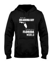 JUST AN OKLAHOMA GUY LIVING IN FLORIDA WORLD Hooded Sweatshirt thumbnail