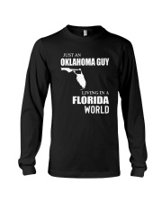 JUST AN OKLAHOMA GUY LIVING IN FLORIDA WORLD Long Sleeve Tee thumbnail
