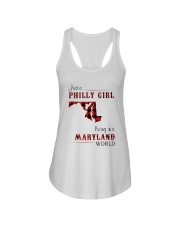 PHILLY GIRL LIVING IN MARYLAND WORLD Ladies Flowy Tank thumbnail