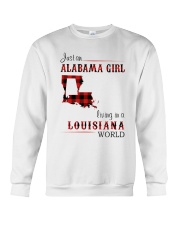 ALABAMA GIRL LIVING IN LOUISIANA WORLD Crewneck Sweatshirt thumbnail