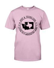 TEXAS GIRL LIVING IN WASHINGTON WORLD Classic T-Shirt thumbnail