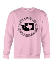 TEXAS GIRL LIVING IN WASHINGTON WORLD Crewneck Sweatshirt thumbnail