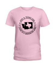 TEXAS GIRL LIVING IN WASHINGTON WORLD Ladies T-Shirt thumbnail
